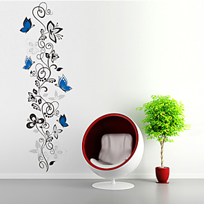 cheap Wall Stickers-Animals / Shapes / Florals Wall Stickers Plane Wall Stickers Decorative Wall Stickers, PVC(PolyVinyl Chloride) Home Decoration Wall Decal Wall Decoration / Washable / Removable