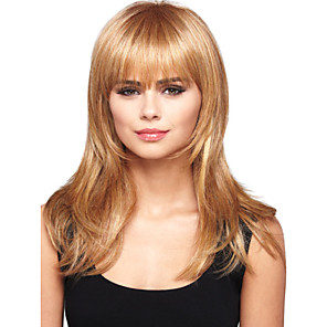 cheap Synthetic Trendy Wigs-Human Hair Wig Wavy Short Hairstyles 2020 Wavy Capless Red Mixed Black Blonde Dark Brown 24 inch