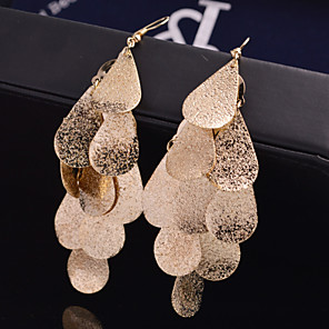 cheap Necklaces-Women's Drop Earrings Hanging Earrings Leaf Statement Personalized Luxury Bridal Festival / Holiday Earrings Jewelry Silver / Golden For Wedding Party Special Occasion Daily Casual