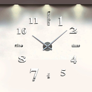 cheap Wall Clocks-Modern Contemporary Stainless Steel Round Indoor AA Decoration Wall Clock Analog No / Quartz Movement