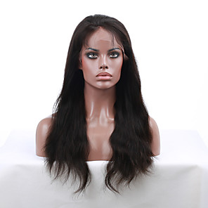 cheap Bathtub Faucets-Human Hair Lace Front Wig style Indian Hair Straight Wig 130% Density with Baby Hair Natural Hairline African American Wig 100% Hand Tied Women's Short Medium Length Long Human Hair Lace Wig