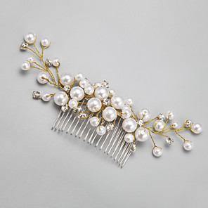 cheap Wedding Slips-Imitation Pearl / Rhinestone / Alloy Hair Combs / Headwear with Floral 1pc Wedding / Special Occasion Headpiece