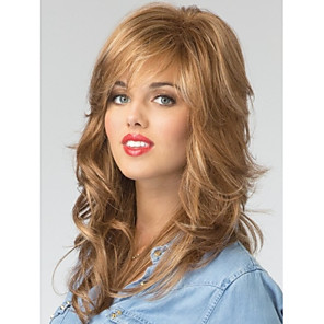 cheap Synthetic Trendy Wigs-High Quality Capless Long  Wavy Mono Top Virgin Remy  Human Hair Wigs 7 Colors to Choose
