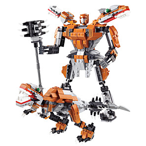 cheap Building Blocks-396 PCS Deformable Iron Man,Warriors And Dinosaur,Action Figures Classic Toys