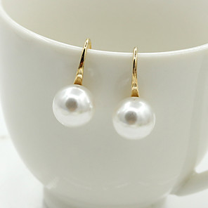 cheap Earrings-Women's Crystal Stud Earrings Drop Earrings Ladies European Fashion Elegant 18K Gold Plated Pearl Imitation Pearl Earrings Jewelry Silver / Golden For Wedding Masquerade Engagement Party Prom Promise