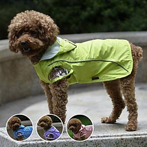 cheap Dog Clothes-Dog Rain Coat Waterproof Outdoor Dog Clothes Purple Blue Pink Costume Plastic Nylon XS S M L XL XXL