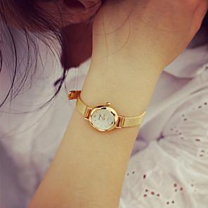 cheap Bracelet Watches-Women's Bracelet Watch Gold Watch Quartz Mesh Ladies Casual Watch Gold Analog - Golden Silver