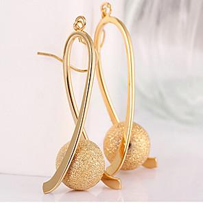 povoljno Modne naušnice-Žene Viseće naušnice Long Gyöngyök Ispustiti dame Elegantno Talijanski Pozlaćeni Naušnice Jewelry Zlato Za