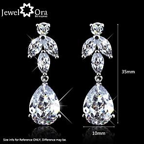 cheap Earrings-Women's Cubic Zirconia Drop Earrings Cubic Zirconia Earrings Jewelry White For