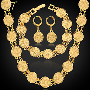 cheap Jewelry Sets-Jewelry Set Chains Charm Vintage Party Work Casual Link / Chain Earrings Jewelry Gold / Silver For Party Special Occasion Anniversary Birthday Gift