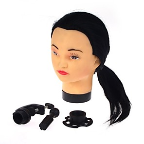cheap Tools & Accessories-Hair Dressing Practice Mannequin Head Hair Cutting with Clamp