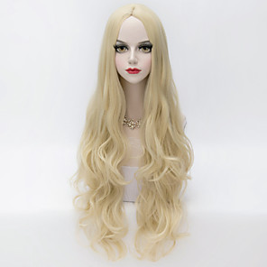 cheap Costume Wigs-Synthetic Wig Loose Wave Loose Wave Wig Blonde Very Long Blonde Synthetic Hair Women's Middle Part Blonde