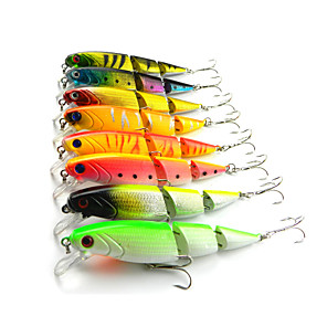 cheap Fishing Lures & Flies-8 pcs Fishing Lures Hard Bait Minnow Sinking Bass Trout Pike Sea Fishing Freshwater Fishing Bass Fishing Hard Plastic