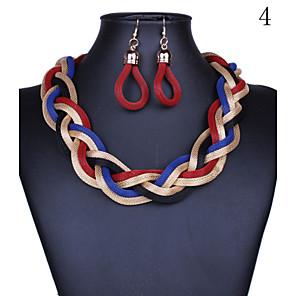 cheap Jewelry Sets-Jewelry Set Chinese Knot Statement Ladies Vintage Party Casual Fashion Earrings Jewelry 4 / 5 / 6 For Party Special Occasion Anniversary Birthday Engagement Gift / Necklace