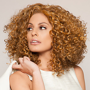 cheap Synthetic Trendy Wigs-Synthetic Wig Wig Blonde Medium Length Strawberry Blonde Synthetic Hair Women's Blonde