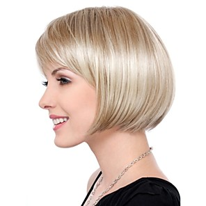 cheap Synthetic Lace Wigs-Synthetic Wig Straight Straight Bob Wig Blonde Short Blonde Synthetic Hair Women's Blonde StrongBeauty
