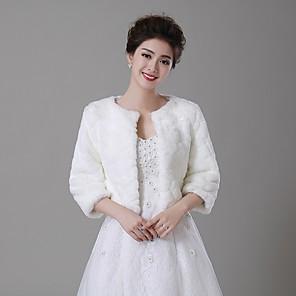 cheap Wedding Wraps-Coats / Jackets Faux Fur Wedding / Party Evening Fur Wraps / Fur Coats With Smooth / Fur