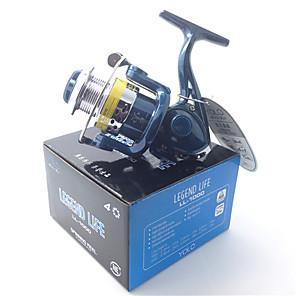 cheap Fishing Reels-Fishing Reel Spinning Reel 5.1:1 Gear Ratio+4 Ball Bearings Hand Orientation Exchangable Bait Casting / Ice Fishing / Spinning - LL1000 / Freshwater Fishing / Carp Fishing / General Fishing