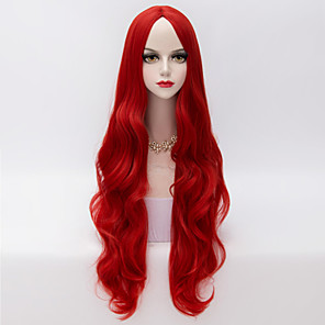 cheap Costume Wigs-Synthetic Wig Wavy Loose Wave Loose Wave Wig Very Long Red Synthetic Hair Women's Middle Part