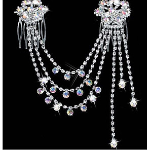 cheap Hair Jewelry-Women's Party Rhinestone Silver Plated Imitation Diamond Hair Jewelry Solid Colored / Alloy