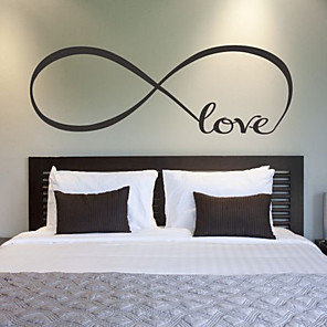 cheap Wall Stickers-Romance / Fashion / Cartoon Wall Stickers Words & Quotes Wall Stickers Decorative Wall Stickers, Vinyl Home Decoration Wall Decal Wall Decoration 1 / Washable / Removable