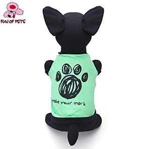 cheap Dog Clothes-Cat Dog Shirt / T-Shirt Cartoon Letter & Number Cosplay Wedding Dog Clothes Green Costume Cotton XS S M L