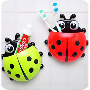 cheap Bathroom Gadgets-Ladybug Toothbrush Holder Mount With Suction Wall Rack Bathroom