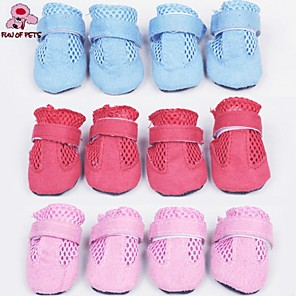 cheap Dog Clothes-Cat Dog Boots / Shoes Cosplay Wedding Dog Clothes Rainbow Costume Nylon S M L XL