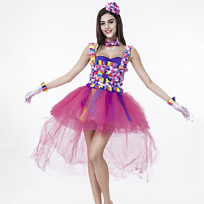 cheap Latin Dancewear-Performance Dress Ruffles Women's Performance Sleeveless Crepe Spandex / Clubwear / Halloween Decorations
