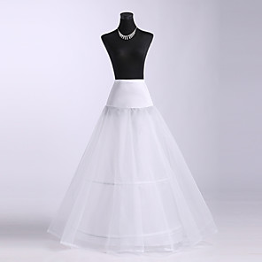 cheap Wedding Slips-Wedding / Special Occasion Slips Spandex / Tulle / Polyester Floor-length A-Line Slip with Lace-trimmed bottom