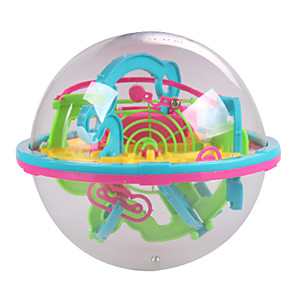 cheap Maze & Sequential Puzzles-New Mini 3D Maze Magic Ball 100 Level Intellect Ball Children Education Puzzle Toys Orbit Game Intelligence Away Gift