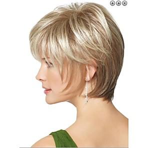 cheap Synthetic Trendy Wigs-Synthetic Wig Straight Straight Wig Blonde Short Blonde Synthetic Hair Women's Blonde StrongBeauty