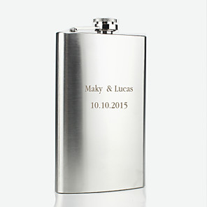 cheap Wedding Gifts-Stainless Steel Hip Flasks Groom / Groomsman / Parents Wedding / Anniversary / Birthday