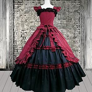 cheap Lolita Dresses-Dress Gothic Lolita Dress Women's Lolita Accessories Cotton Halloween Costumes / Long Length