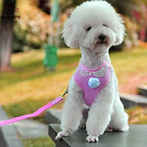 cheap Dog Collars, Harnesses & Leashes-FUN OF PETS® Lovely Pink Lace Collar Harness with Leash for Pets Dogs(Assorted Sizes)