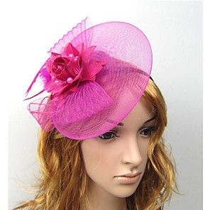 cheap Hair Jewelry-Women's Headbands Fascinators For Wedding Party Lace Purple Red White