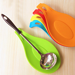 cheap novelty kitchen tools-Silicone Spoon Insulation Mat Placemat Coaster Tray Cooking Tools