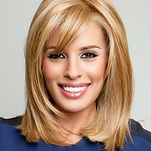 cheap Human Hair Capless Wigs-Human Hair Wig Wavy Wavy Capless Blonde Blonde / Bleached Blonde Light Brown
