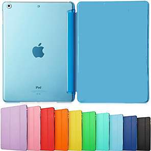 cheap iPad case-Case For iPad Air iPad Air / iPad 4/3/2 / iPad Mini 3/2/1 Solid Color / Shockproof / Flip Full Body Cases Solid Color Hard PU Leather / iPad Pro 10.5 / iPad (2017)