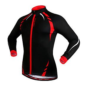 cheap Cycling Jerseys-WOSAWE Men's Women's Cycling Jacket Bike Jacket Jersey Top Thermal / Warm Windproof Fleece Lining Sports Fleece Winter Red / black / Black / Yellow Mountain Bike MTB Road Bike Cycling Clothing Apparel
