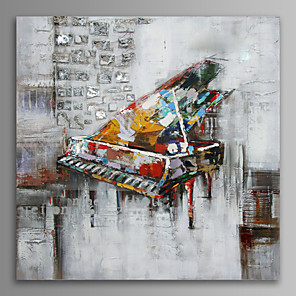 cheap Abstract Paintings-Hand Painted Oil Painting On Canvas Wall Art , Stretched Frame Ready To Hang