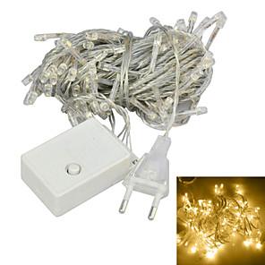 cheap LED String Lights-JIAWEN 10M 4W 100-LED 8-Mode Christmas lights Decoration String Lights  Warm White (EU Plug , AC 220V)