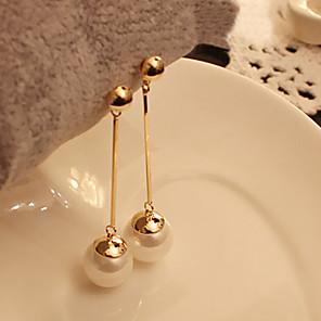 cheap Earrings-Women's Pearl Drop Earrings Ladies Pearl Imitation Pearl Earrings Jewelry White For Party Daily Casual