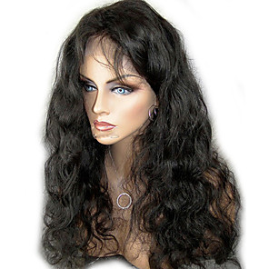 cheap Synthetic Trendy Wigs-unprocessed 10 24 virgin brazilian hair natural color body wave 130 density full lace wig lace front wig