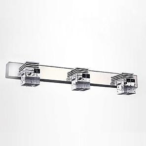 cheap Indoor Wall Lights-LED 3-Lights Mirror Front Vanity Lamp 46cm 9W Bathroom Lighting Stainless Steel Alumionum Crystal Wall Light IP67 Waterproof Anti-rust