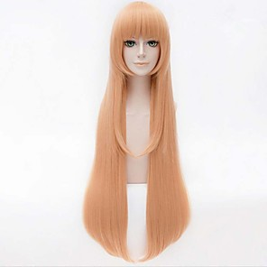 cheap Synthetic Trendy Wigs-Synthetic Wig Straight Straight Wig Blonde Long Yellow Synthetic Hair Women's Blonde