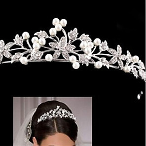 cheap Hair Jewelry-Women's For Homecoming Royalty Imitation Pearl Silver Plated Alloy White