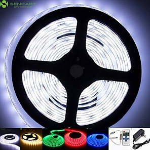 cheap LED Strip Lights-2m Light Sets LED Light Strips Flexible Tiktok Lights 120 LEDs 5630 SMD Warm White White Red Waterproof Remote Control RC Cuttable 100-240 V IP68 Dimmable Linkable Suitable