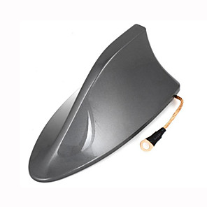 cheap Antenna Toppers-Plastic Shark Fin Design Adhesive Base Roof Decorative Antenna 16cm Long for Toyota RAV4