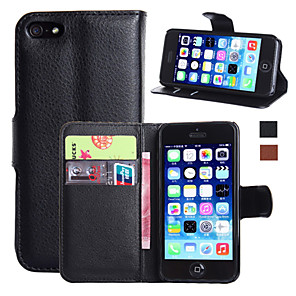 cheap iPhone Cases-Case For Apple iPhone 7 Plus / iPhone 7 / iPhone 6s Plus Wallet / Card Holder / with Stand Full Body Cases Solid Colored Hard PU Leather